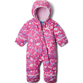 Columbia Snuggly Bunny Bunting Overall Baby, pink ice reindeer/pink clover